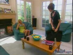 Vintage hardcore with a sexy blonde MILF getting her twat teased with tongue and cock