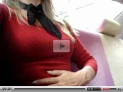 Crazy Hot Blonde Masturbates at The Office