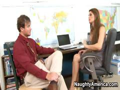 Madelyn Marie fucks coworkers cock