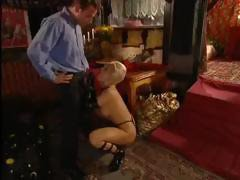 Hot blonde MILF Dolly Golden is into old times and big cocks