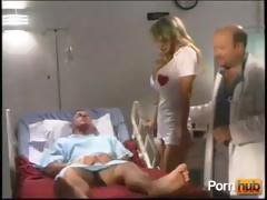 This patients diagnosis isn't good but the busty blonde nurse is