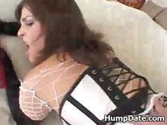 Slutty brunette Isabel Ice gets nailed in the ass then takes his dirty cock down her throat