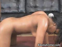 Black Girl Bent Over And Fucked Roughly From Behind