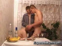 Mom participates in hot threesome after part1