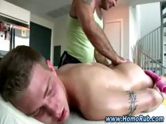 Gay straight guy massage  ass play seduction