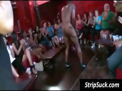 Wild girl's party with a black stripper getting his dick jerked