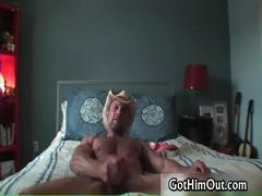 Chad Davis jerking his massive gay cock part2