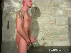 Cute Leon wanking his stiff gay jizzster part2