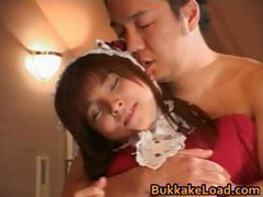 Bucket of cum thrown on Asian sweetheart part5