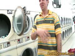 Horny Gays Having Sex in Public Laundry part5