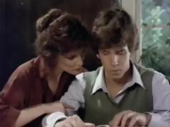 Vintage porn where young Tom Byron gets more from his tutor