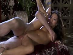 Asa Akira giving a massage and then giving head and a good fuck