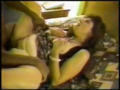 Chubby mature likes black cock and she sucks before she fucks it