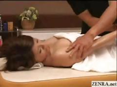 Naked Japanese milf has hands on sensual oil massage