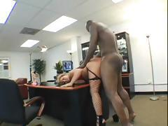 Busty blonde Erica Staxxx gets a big black cock to suck and fuck