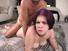 BBW amateur with big tits gets her ass pounded hard by big cock